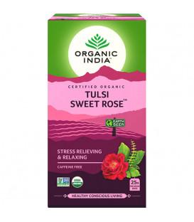 Herbata SWEET ROSE 18 torebek Organic India - redukuje skutki stresu