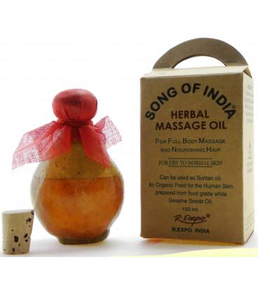 Ziołowy olej do masażu z aromatyczną esencją Patchouli, Song of India, 100ml
