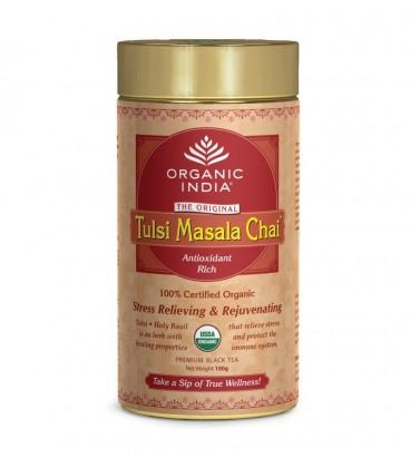 Herbata Masala Chai Tulsi Tea 100g sypana Organic India