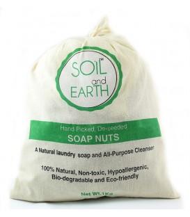 Orzechy piorące ciemne wyselekcjonowane łupinki PREMIUM 1kg + 2 woreczki Soil & Earth