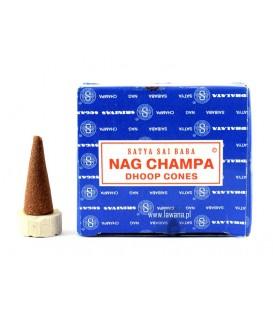 Stożkowe Kadzidła Orientalne Nag Champa 12 sztuk Satya Sai Baba