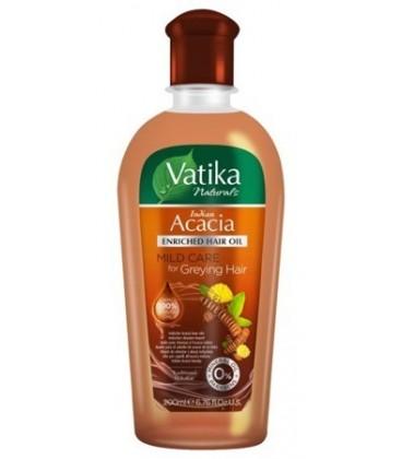 Olejek do włosów z Shikakai (akacja indyjska) 200ml NOWOŚĆ Vatika Dabur włosy delikatne i siwiejące