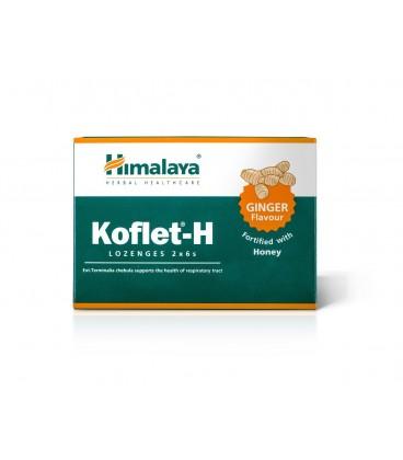 Koflet -H Pastylki do ssania o smaku imbirowym, 2 x 6 sztuk Himalaya
