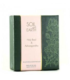 Mydło Orientalne ŚWIĘTA BAZYLIA TULSI 100g  Soil & Earth - Antyseptyczne Działanie