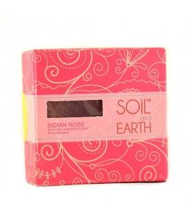 Mydło Orientalne INDYJSKA RÓŻA 125g Soil & Earth - Subtelny Kwiatowy Aromat