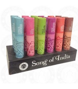 Tradycyjne kadzidła w opakowaniu w kształcie tuby, OWOCE LEŚNE 25g Song of India