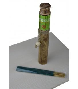 Citronella - Zestaw kadzidła odstraszające komary z drewnianą podstawką 25g