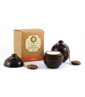 Perfumy w szkatułce z drzewa różanego AMBRA 6g Song of India