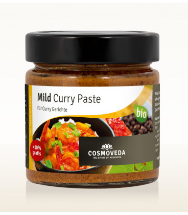 Łagodna Pasta Curry 160g Cosmoveda Paste BIO