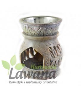 Kominek do olejków eterycznych/ Świecznik zapachowy z kamienia mydlanego wys 8cm szer 6cm
